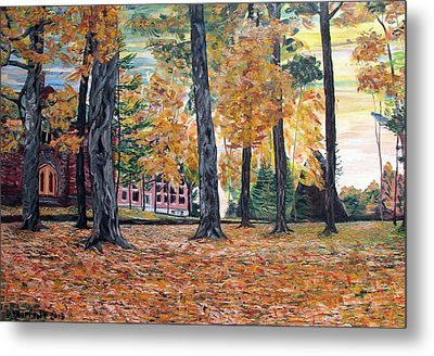 Enchanted Forrest In The Fall Metal Print