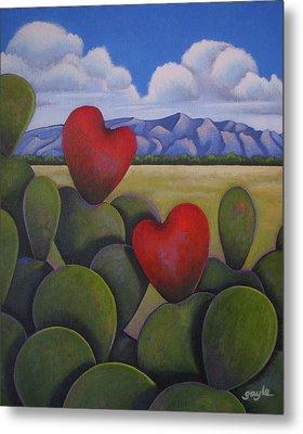 Enchanted Hearts Metal Print