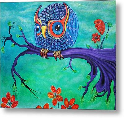 Enchanted Owl Metal Print by Laura Barbosa