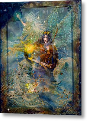 Angel Tarot Card Enchanted Princess Metal Print