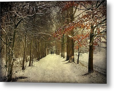 Enchanting Dutch Winter Landscape Metal Print