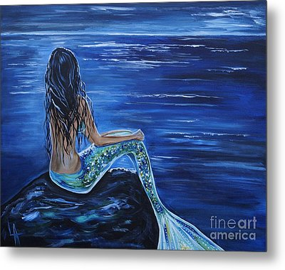 Enchanting Mermaid Metal Print by Leslie Allen