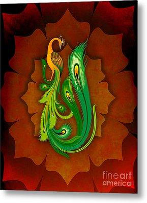 Enchanting Peacock 1 Metal Print by Peter Awax