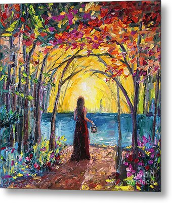 Metal Print featuring the painting Enchanted by Jennifer Beaudet