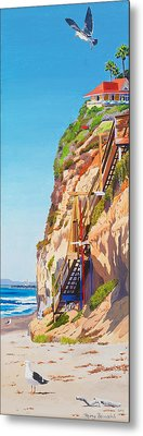 Encinitas Beach Cliffs Metal Print by Mary Helmreich