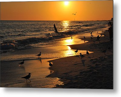End Of Another Day Metal Print by Michele Kaiser