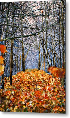 End Of Autumn Metal Print