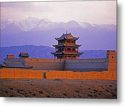 End Of Great Wall Metal Print