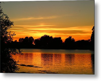 Metal Print featuring the photograph End Of Summer Sunset by Lynn Hopwood