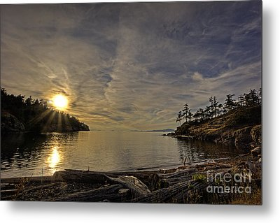 End Of The Day Metal Print by Inge Riis McDonald