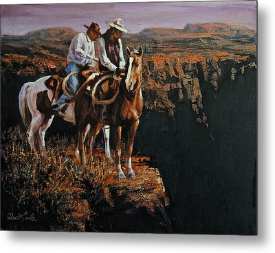 End Of The Trail Metal Print by Mia DeLode