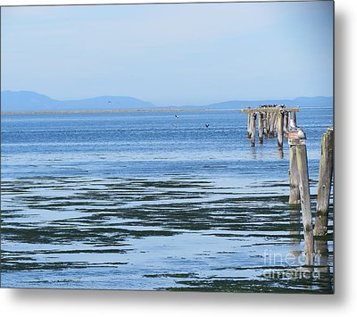 End Of The World In Blue Metal Print