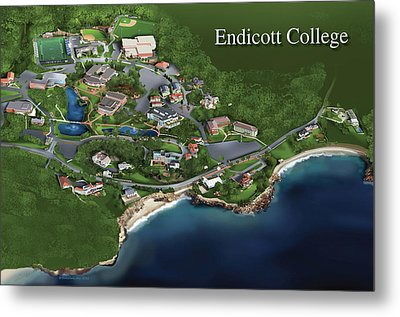Endicott College Metal Print