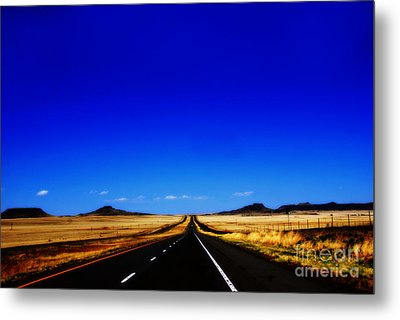 Endless Roads In New Mexico Metal Print by Susanne Van Hulst