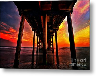Endless Sunset Metal Print by Peter Dang