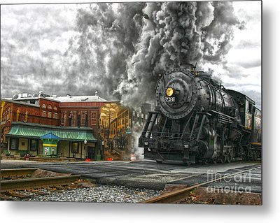 Engine 734 On The Western Maryland Scenic Railroad  Metal Print by Jeannette Hunt