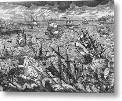 England S Great Storm Metal Print by English School