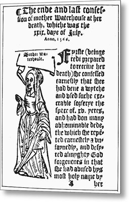 England Witch Trial, 1566 Metal Print by Granger