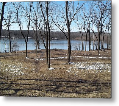 Metal Print featuring the photograph Englewood Reserve With Water by Eric Switzer