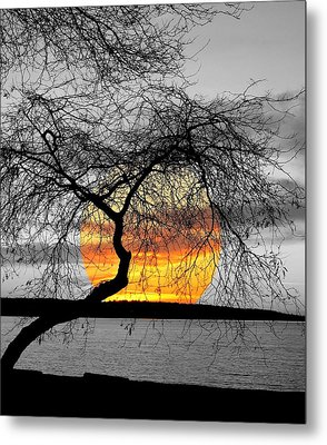 English Bay Sunset Metal Print