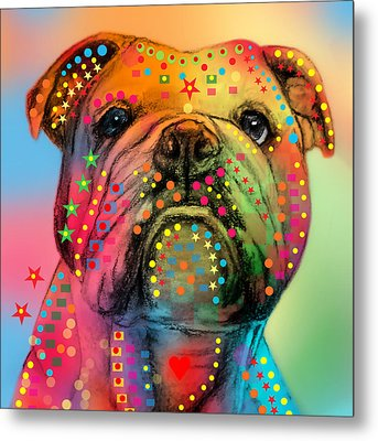 English Bulldog Metal Print by Mark Ashkenazi
