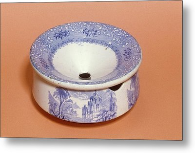 English Ceramic Spittoon Metal Print