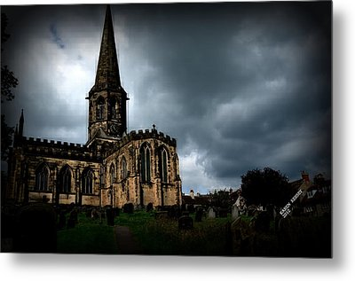 Metal Print featuring the photograph English Church by Karen Kersey