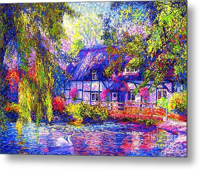 English Cottage Metal Print by Jane Small