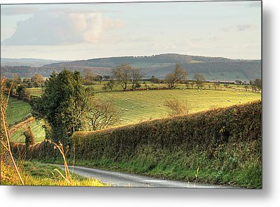 English Countryside In Early Winter Metal Print