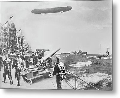 English Fleet Off Ostend Metal Print