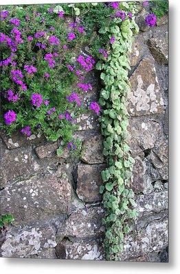 English Garden Wall Metal Print