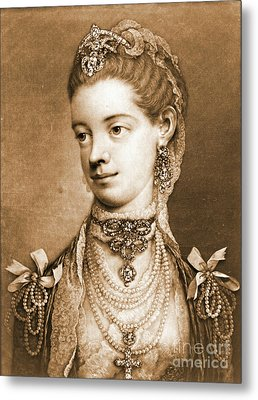 English Queen Charlotte 1762 Metal Print by Padre Art