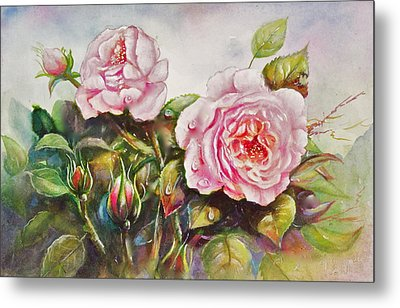 English Roses Metal Print by Patricia Schneider Mitchell