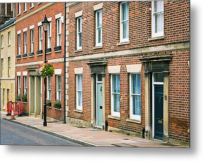 English Town Houses Metal Print by Tom Gowanlock