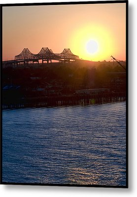 Metal Print featuring the photograph English Turn Sunset In New Orleans by Ray Devlin