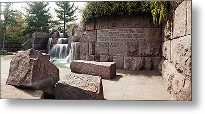 Engraved Memorial Wall, Franklin Delano Metal Print by Panoramic Images