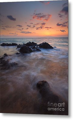 Engulfed By The Waves Metal Print by Mike  Dawson