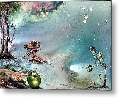 Metal Print featuring the painting Enigma by Mikhail Savchenko