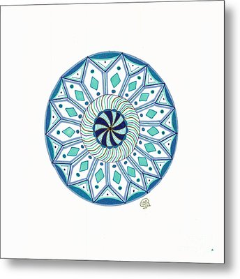 Enjoy The Breath Of Life Metal Print by Signe  Beatrice