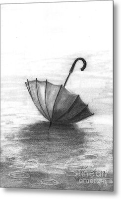 Enjoy The Raindrops Metal Print by J Ferwerda