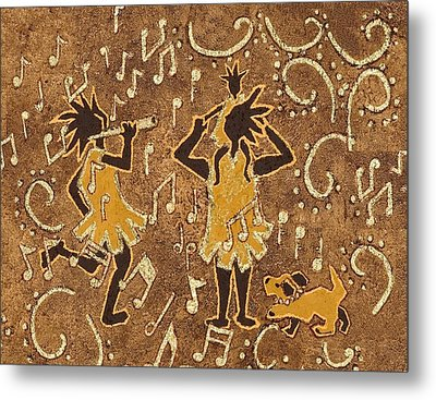 Enjoying The Music Metal Print by Katherine Young-Beck