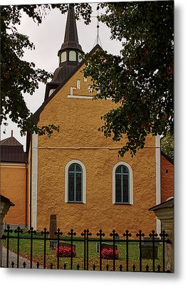 enkoepingsnaes church from east Db Metal Print