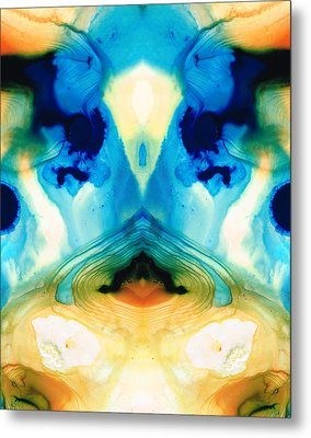 Enlightenment - Abstract Art By Sharon Cummings Metal Print by Sharon Cummings