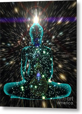 Enlightenment Space-time Consciousness Metal Print by Gregory Smith