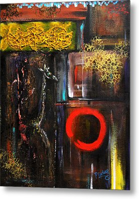 Metal Print featuring the painting Enso Abstract by Patricia Lintner