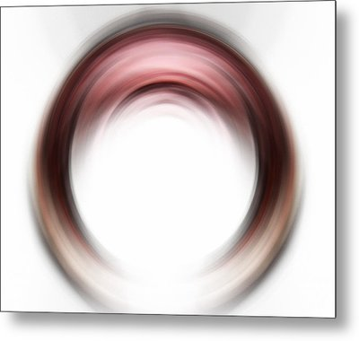 Enso Blush - Abstract Art By Sharon Cummings Metal Print