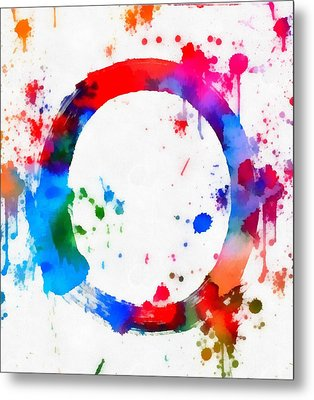 Enso Circle Paint Splatter Metal Print by Dan Sproul