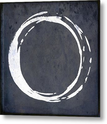 Enso No. 107 Blue Metal Print