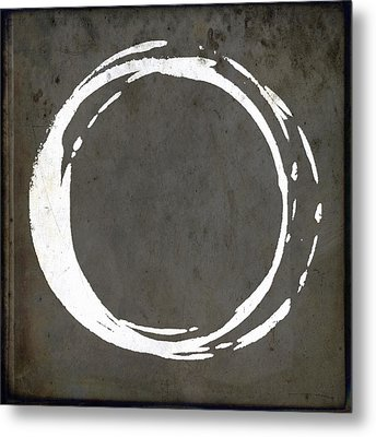 Enso No. 107 Gray Brown Metal Print