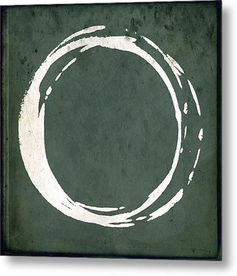 Enso No. 107 Green Metal Print